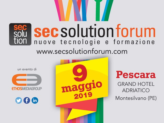 secsolutionforum 2019: vinci tu, vinco io