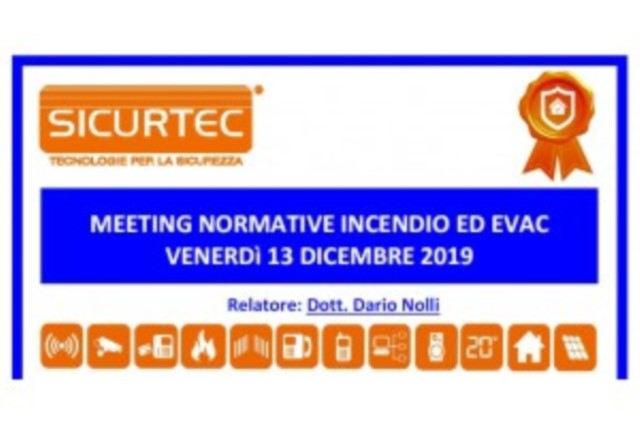 Sicurtec, Meeting sulle ultime normative Antincendio