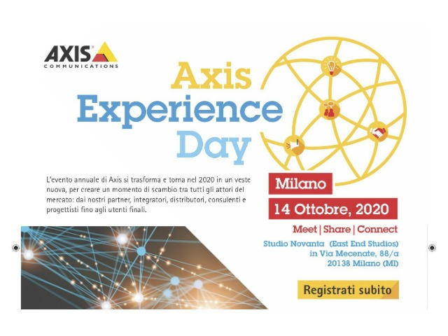 Rimandato al 14 ottobre l'Axis Experience Day 2020 - Meet | Share | Connect