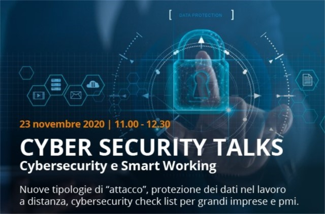Cyber Security Talks, al via con un webinar su