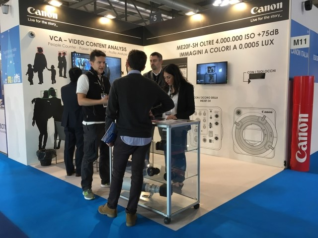 Canon e le soluzioni di Video Content Analysis a Sicurezza 2017