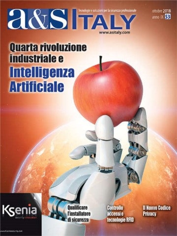 a&s Italy n.53 Ott 2018. Quarta rivoluzione industriale e Intelligenza Artificiale